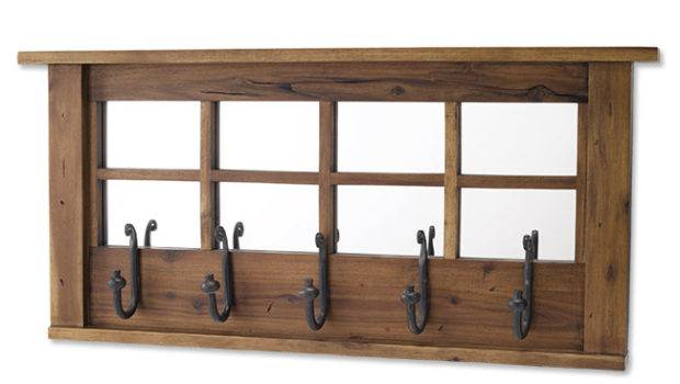 Decorative Coat Rack Acacia Wall Mount Orvis
