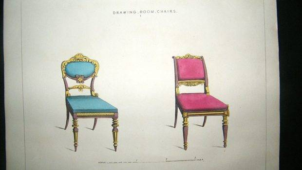 Decorative Drawing Room Chairs Furniture Regency Albion