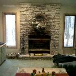 Design Fireplace Stone Wall Your Living Room