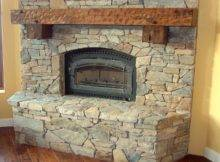 Design Gibbs Corner Stacked Stone Fashionable Shabby Chic Fireplace