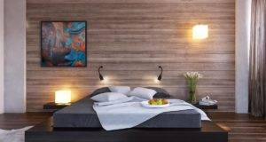 Design Ideas Black Platform Bed Wood Clad Bedroom Wall Mable