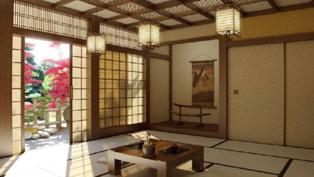 Design Japanese Style Living Room Modern Interior Ideas