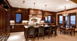 Design Luxury Kitchen Dining Room Elegant Lighting