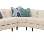 Designer Style Mid Century Modern Sectional Fabric Sofas