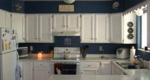 Designs Pure White Kitchen Cupboards Paint Ideas Blue Wall