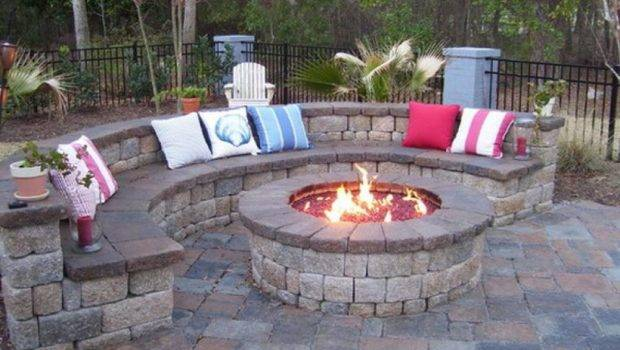 Designs Small Spaces Traditional Outdoor Round Patio Fire Pits