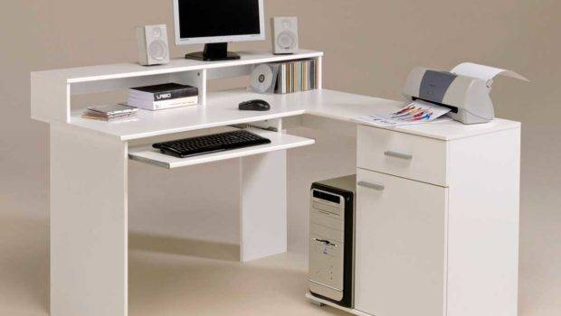 Desk Furniture Interior Decorating White Modern Computer