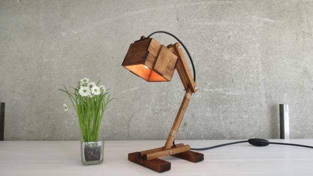 Desk Lamp Kran Wooden Table Working Gift Unique Style