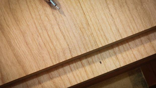 Desk Pull Out Work Surface Bread Board Ends Draw Bored Pegs She