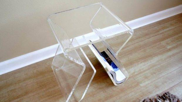 Details New Clear Acrylic Illusion Ghost Side End Table