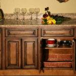 Details Pecan Rustic Glaze Kitchen Cabinets Finish Sample Rta