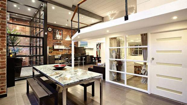 Dining Living Space Warehouse Conversion Abbotsford