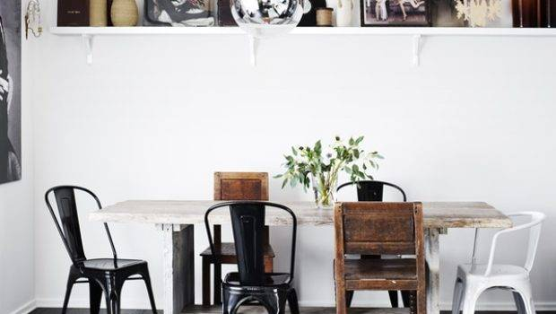 Dining Room Designs Featuring Mismatched Chairs