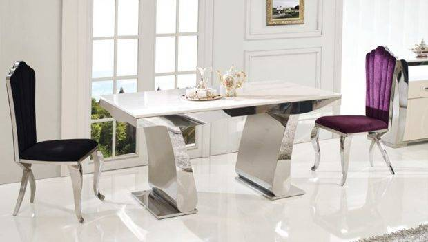 Dining Room Furniture Cabinet Stainless Steel Marble Top