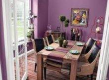 Dining Room Purple Wall Color