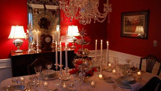 Dining Room Table Christmas Decoration Ideas Wooden Dresser
