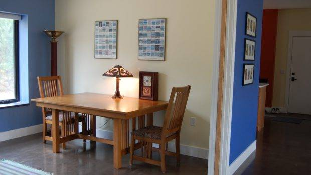 Dining Table Against Wall
