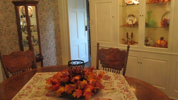 Dining Table Fall Centerpiece