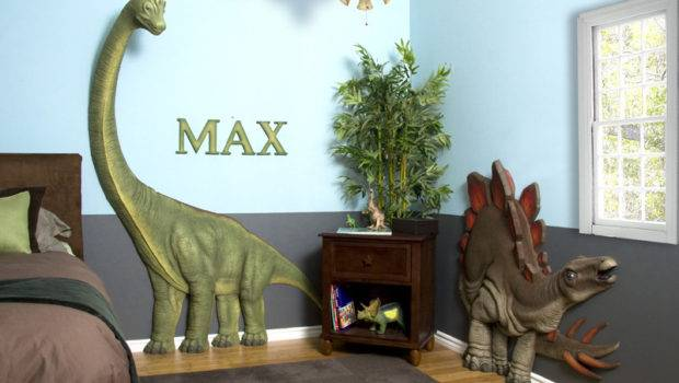 Dinosaur Themed Boys Bedroom Wall Additions
