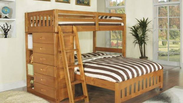 Discovery World Furniture Honey Loft Bunk Bed Twin Over