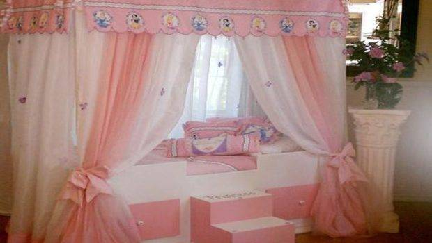 Disney Princess Bed Canopy Curtains Home Pinterest