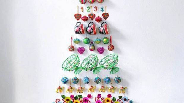 Diy Christmas Tree Wall Decorations
