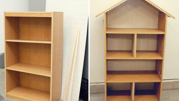 Diy Dollhouse Bookshelf Handmade Christmas Gift Simple