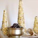 Diy Glitter Gold Christmas Tree Decor Via Pinkwhen