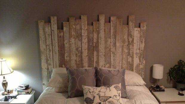 Diy Our Homemade Headboard Headboards Bed Pinterest