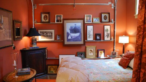 Diy Projects Cheap Double Garage Conversion Ideas Orange Wall Paint
