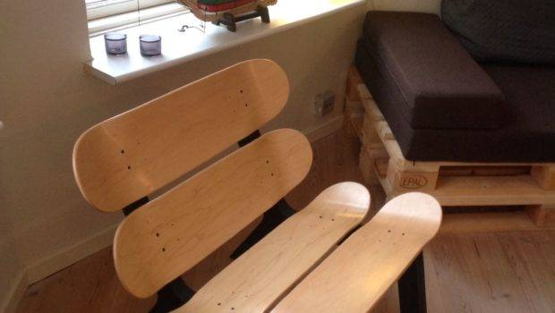 Diy Projects Skateboard Chair Home Pinterest