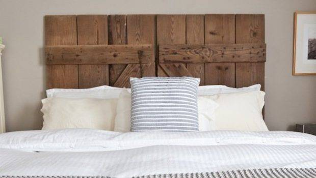 Diy Reclaimed Barn Door Headboard Bob Vila