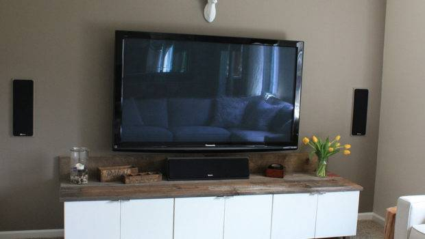 Diy Rustic Modern Entertainment Center Created Kitchen Cabinets