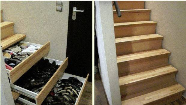 Diy Staircase Drawers More Storage Life