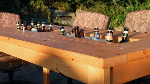 Diy Table Built Drink Coolers Perfect Way Beat
