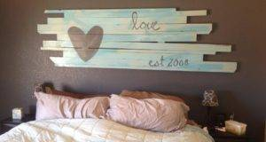 Diy Wood Board Headboard Pinterest
