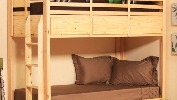 Double Deck Bed Cabinet Twin Bunk Drawers