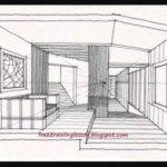 Draw Large Room Sectioned Off Spaces Drawing