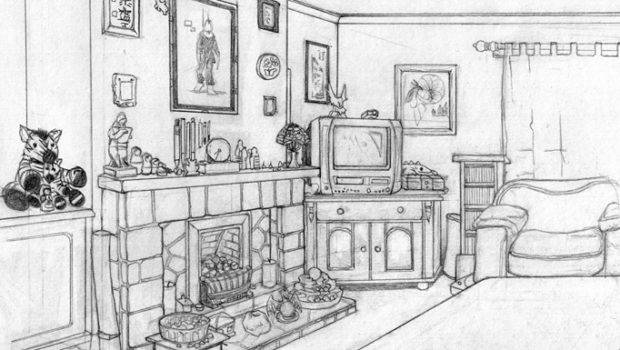 Draw Living Room Sketch Own