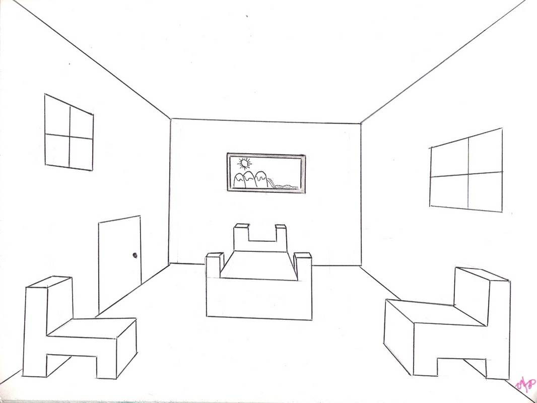 Bedroom drawing perspective - Photographs And Collection Draw A Room Home Living Now Bedroom Designs