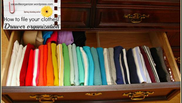 Drawer Organization Ideas Filing Clothes Vacaville Organizer