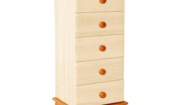Drawers Tallboy Bedside Table Drawer Narrow Night Stand Bun Feet