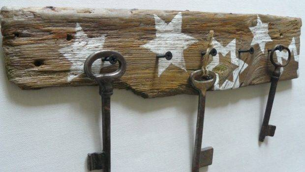 Driftwood Hanger Jewelry Key Unique Gift Holder
