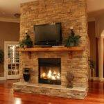 Dry Stack Stone Fireplace Designs