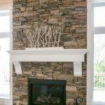 Dry Stacked Stone Fireplace Design Dennis