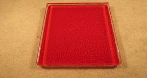 Dye Red Heat Sensitive Color Changing Glass Shower Tile Ebay