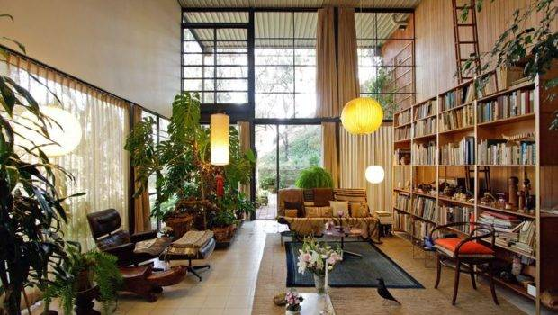 Eames House Interior Glass Wood Steel Box Pinterest