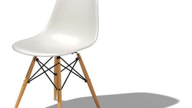 Eames Molded Plastic Side Chair Dowel Base Hivemodern