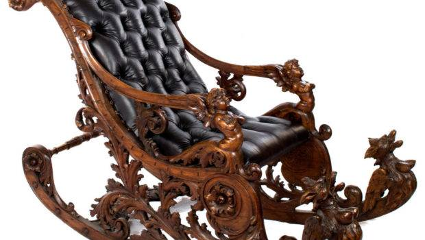 Elaborately Carved Venetian Rocking Chair