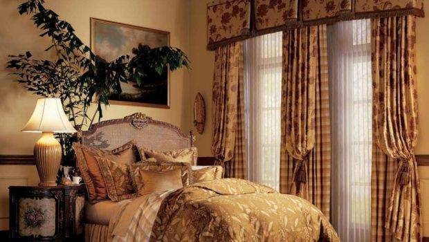 Elegant Bedroom Window Curtains Luminette Drapes